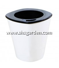 SHS Kebun Self-watering Pot Hydroponic Pot (White Tall)