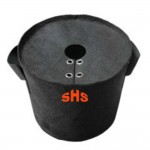 Black Nonwoven Planter Bag with Cover
