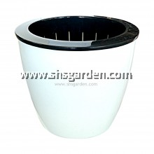 SHS Kebun Large Self-watering Pot Hydroponic Pot (Round White RW200)
