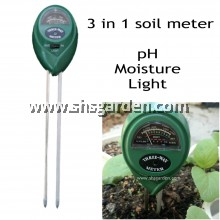 3 in 1 Soil pH Meter For Garden Soil pH Moisture and Light Soil Tester SHS Kebun