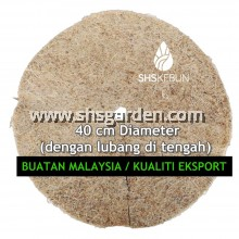 Medium Size (40 cm) Organic Weed Mat (Palm Fibre Mat) for Mulching and Weed Control