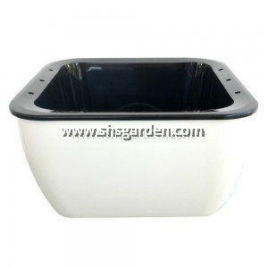 Small Square Self-watering Pot Hydroponic Pot (White SQW158)