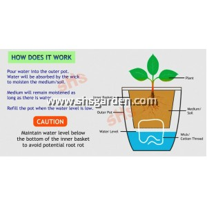 Small Rectangular Self-watering Pot Hydroponic Pot for Succulent Cactus and Small Plants (White RTW158 and RTW180)