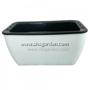 Small Rectangular Self-watering Pot Hydroponic Pot (White RTW158)