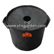 Extra Large Black Nonwoven Planter Bag with Cover 30 gallon