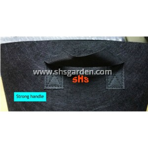 Small Black Nonwoven Planter Bag 5 gallon 30 cm (D) x 25 cm (H)