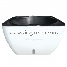 Large Rectangular Self-watering Pot Hydroponic Pot (White Square L-SQW325)