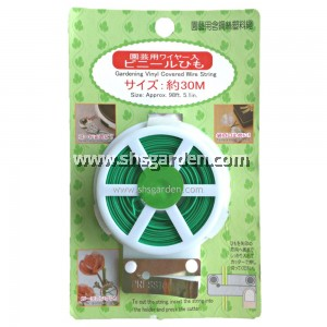 Garden Twist Tie Appox. 30m With Cutter Green Coated Wire Cable Organiser (SHS Kebun)