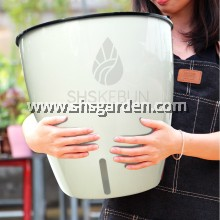 Super Large Round Self-watering Pot Hydroponic Pot (White or Rose Gold RW363)