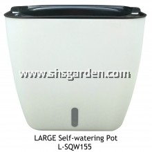 Large Square Self-watering Pot Hydroponic Pot (White L-SQW155)
