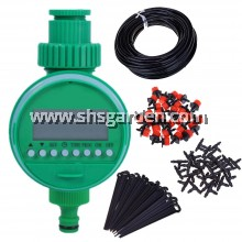 23m DIY Micro Drip Irrigation System Plant + Electronic Automatic Watering Timer (SHS Kebun)