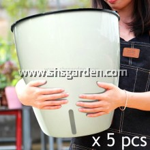 5 pcs Super Large Round Self-watering Pot Hydroponic Pot (White SL-RW363)