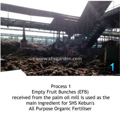 SHS Kebun All Purpose Organic Fertiliser 1kg Organically Derived from Empty Fruit Bunches from Oil Palm