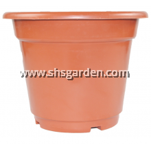 SHS Kebun Medium Brown Round Plastic Rectangular Flower Pot  AB230