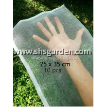 10 pcs Medium Garden Net (25x35cm) Nylon Fruit Mesh (bag) for Pest Control (Insects, fruit flies, caterpillars, birds, squirrels, rats, monkeys, cats) Jaring Membalut Buah Kebun Mencegah Lalat Buah dan Serangga Perosak
