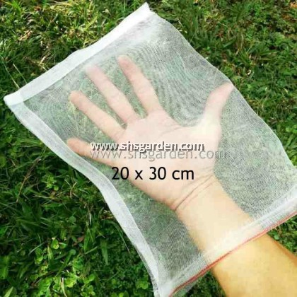 10 pcs Large Garden Net (40x56cm) Nylon Fruit Mesh (bag) for Pest Control (Insects and animals) Stronger than Organza Bags