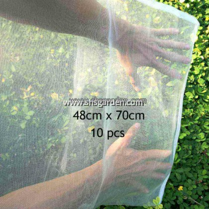10 pcs Extra Large Garden Net (48x70cm) Nylon Fruit Mesh (bag) for Pest Control (Insects and animals) Better than Organza Bags SHS Kebun