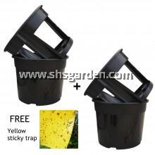 (2 Sets) 2-Piece-Design Potato Pot Planter for Sweet Potato Ginger Lengkuas Carrot Radish Groundnut FREE Sticky trap (SHS Kebun)