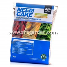 Baba Neem Cake Enhanced Formulation Organic Fertilizer and Pesticide Against Root Fungus Grub and Nematode 1kg  SHS Kebun