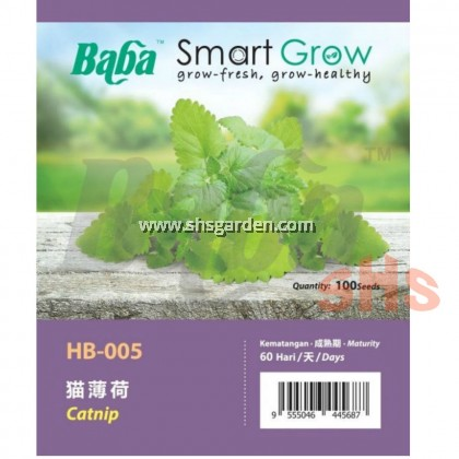 Baba Catnip Seeds Smart Grow SHS Kebun