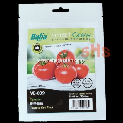 Baba Tomato Seeds Cherry Tomato Ruby Red or Tomato Red Rock VE-016 VE-039 Benih Tomato SHS Kebun