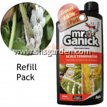 Baba Mr Ganick Scale Terminator Organic Pesticide For Mealy Bugs Whitefly Aphids Mites Non-Toxic Refill Pack SHS Kebun
