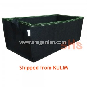 Rectangular Nonwoven Planter Bag Fabric Pot Black SHS Kebun
