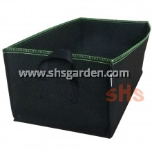 Large Square Nonwoven Planter Bag 60 cm (D) x 30 cm (H) x 20 cm (W) Black SHS Kebun