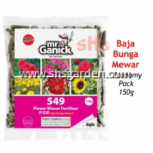 Baba Mr Ganick 549 Organic Flower Bloom Fertilizer (150g) Baja Organik Bunga Mewar SHS Kebun