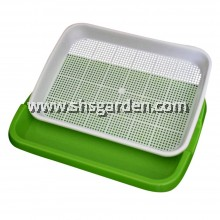 5 pcs  Microgreen Tray 33 x 25 x 4.7 cm Green and White 2-layer System Suitable for All Microgreen