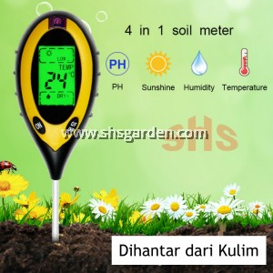 4 in 1 Soil pH Meter For Garden Soil pH Moisture and Light Soil Tester SHS Kebun