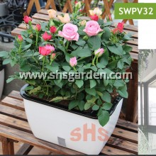 2-Layer Self watering Pot Pasu Bersumbu Hydroponic Pot Wicking System (SWPV32) Lazy Pot 32x22.5x19.5 cm SHS KEBUN