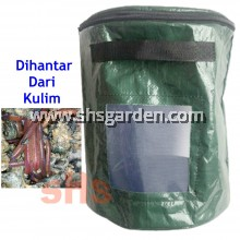 Worm Bin With Observation Windows and Zipped Cover PE 35Dx45H 10 Gallon 43 Litre SHS KEBUN