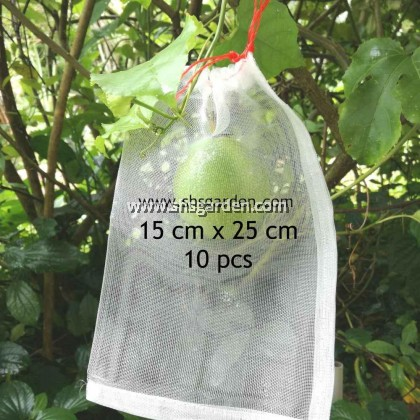 100 pcs Extra Large Garden Net (48x70cm) Nylon Fruit Mesh (bag) for Pest Control (Insects and animals) Better than Organza Bags SHS Kebun